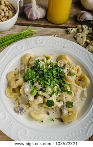 Tortellini With Blue Cheese Sauce