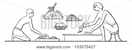 Manufacture of glue, vintage engraved illustration.