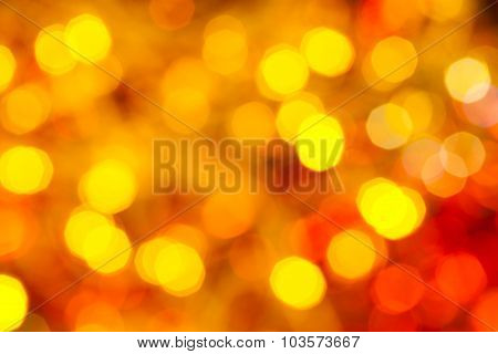 Yellow And Red Flickering Christmas Lights