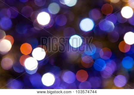 Dark Blue And Violet Twinkling Christmas Lights