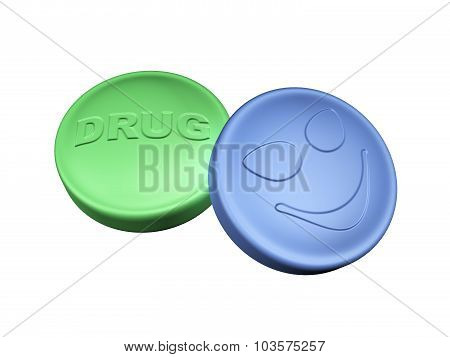 Two Colorful Drug