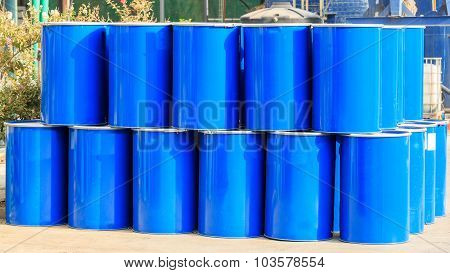 The Stack Of Two Rows Of Barrels