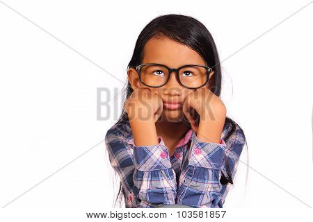 Little Girl Showing Bored Gesture