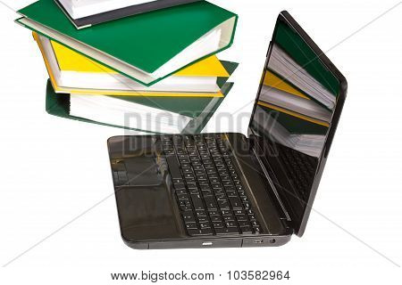Folders With Laptop