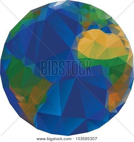 Vector Illustration of Low Poly World