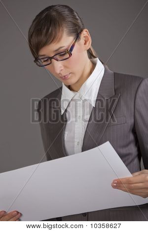 Business Woman With Document