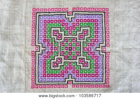 Hmong Embroidered Cloth
