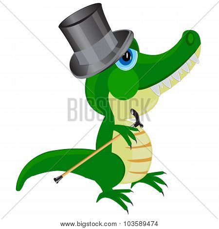 Cartoon Of The Crocodile In Hat