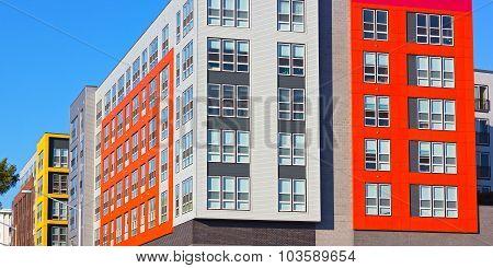 New residential buildings in suburban Virginia USA.