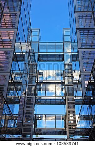 Modern office building in US capital.