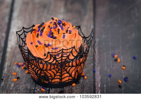Festive Halloween Cupcake