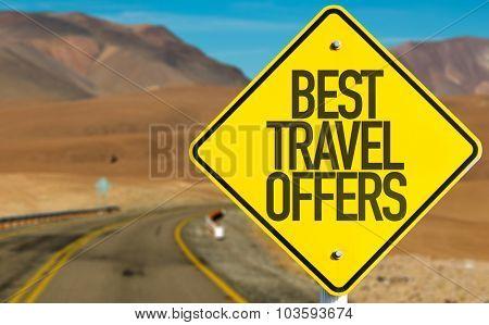 Best Travel Offers sign on desert road