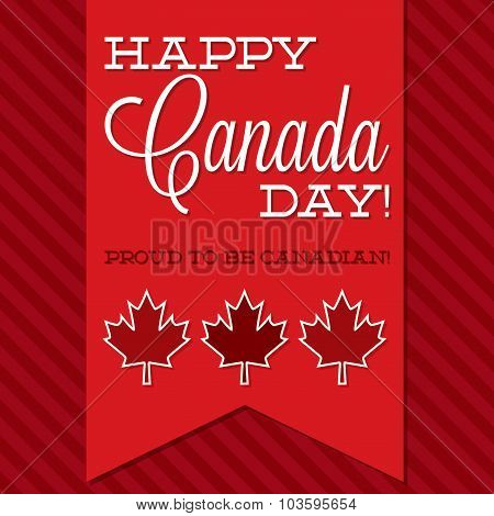 Canada Day Sash Card In Vector Format.