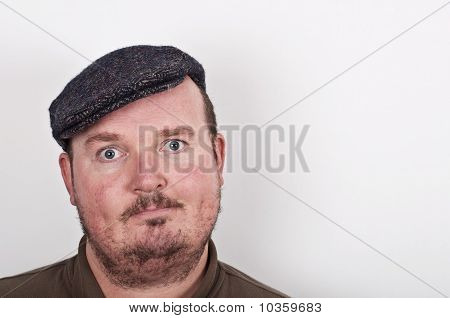 Middle Age Male Portrait On Off White Backdrop