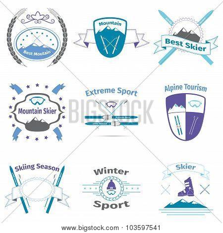 Ski And Mountain Logos