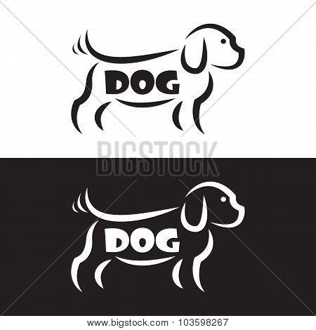 Vector Image Of An Dog Design On Black Background And White Background, Logo, Symbol