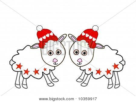 Cute christmas sheep