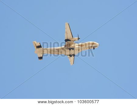 Military Transport Aircraft In Flight