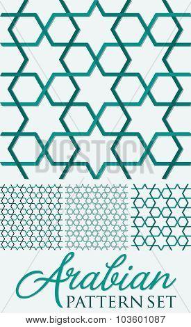 Arabian Weave Pattern Set In Vector Format.