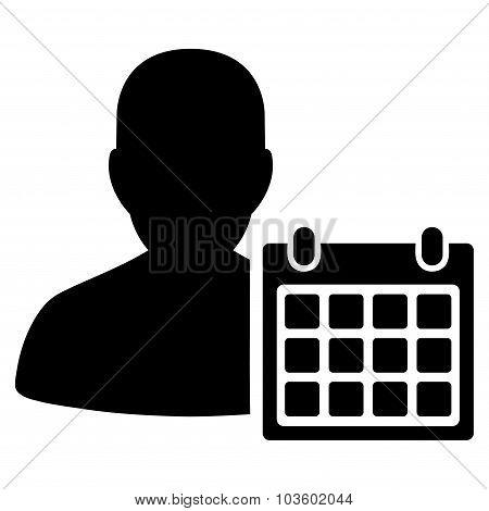 Patient Calendar Flat Icon