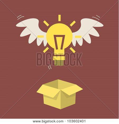 Flying light bulb