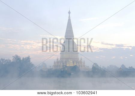 Sharp Pagoda Gold With Steam