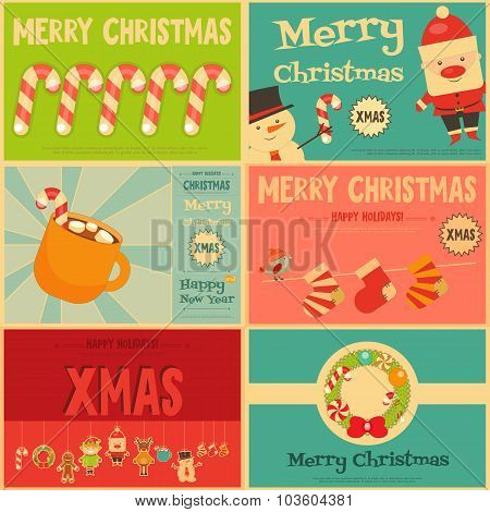 Set Of Cute Christmas Mini Posters