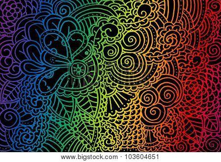 rainbow floral pattern