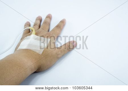 Ivy Hand Arm Recovery Patient Drug Saline Hospital Care