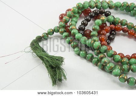 Bead Prayer Meditation Meditate Closeup Thai Buddhism Concept