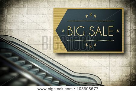 Moving Escalator Stairs, Big Sale Poster