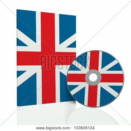Cd Cover With Disc With British Flag