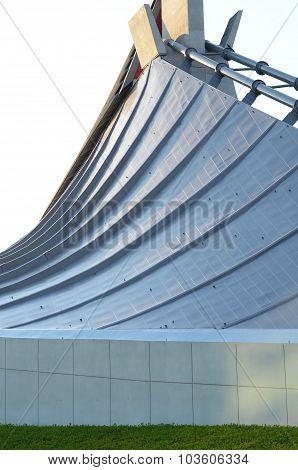 Tokyo, Japan - November 20, 2013: Free Form Roof Of Yoyogi National Gymnasium In Tokyo