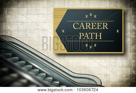 Moving Escalator Stairs With Career Path