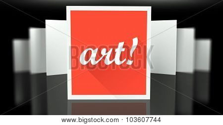 Art Sign Exhibition Gallery Stand Walls