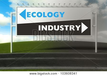 Conceptual Direction Signs Lead To Ecology Or Industry