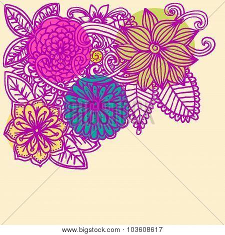 Corner flower pattern