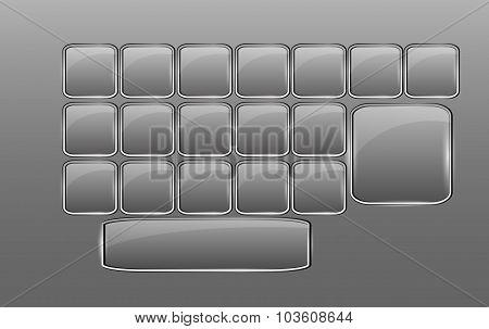 Vector Empty Glass Keyboard