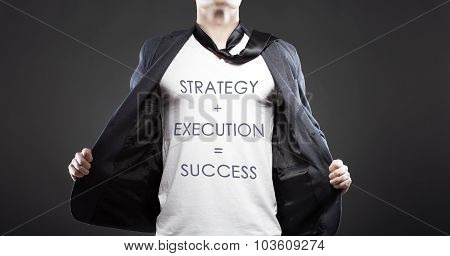 Strategy And Execution To Success, Young Successful Businessman