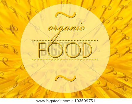 Organic Food With Flower Macro Background