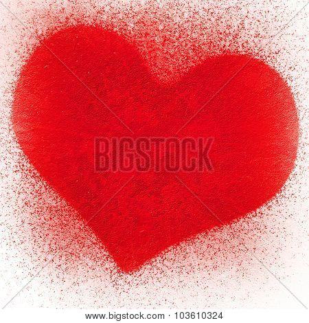 spray background with love design