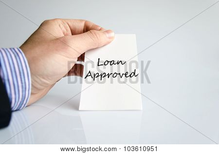 Loan Approved Text Concept