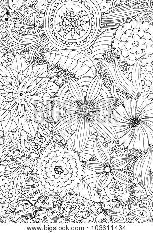 Floral pattern for coloring
