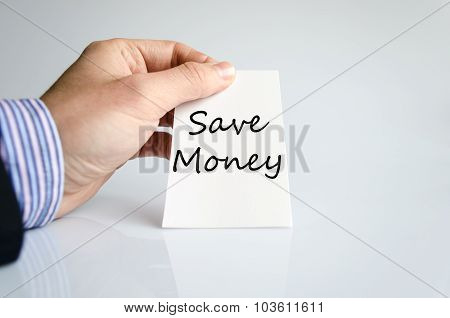 Save Money Text Concept