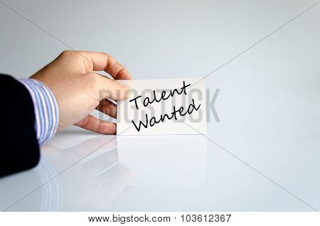 Talent Wanted Text Concept