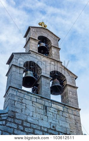 Closeup View On Bell Tower