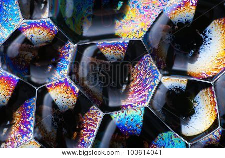 Cell Structure Abstract Background, Vibrant Colors