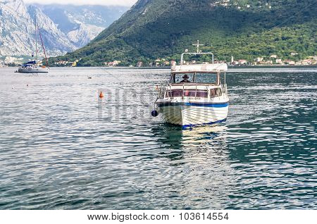 View On Sail Boat In Perast