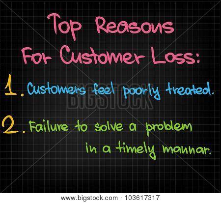 Top Reasons for Customer Loss