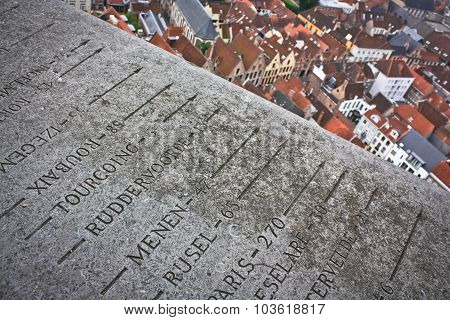 The Top Of The Belfort In Bruges